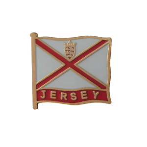 Jersey Channel Islands Wavy Flag Pin Badge