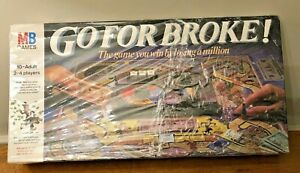 Go-for-Broke-Board-Game-MB-Games-1985-edition-Complete-Vintage-Retro