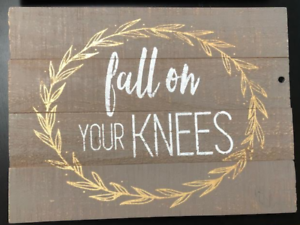 Wall Decor Plaque Sign Wood Gray Yellow Praise Farmhouse Hobby Lobby Ebay