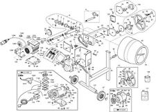 Spares Belle Cement Concrete Mixer Gearbox Gear Box Maxi 140 Lt1999 Old Style