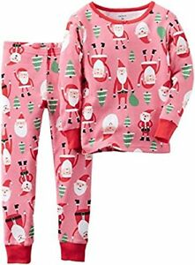 Carter/'s Toddler Boys Christmas Santa Claus Fleece Footed Pajama Size 6M