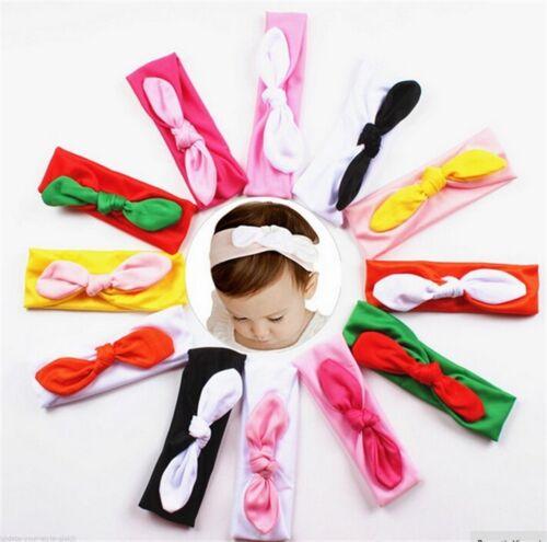 Baby Kinder Stirnband KNOTEN Schleife Haarband Mädchen Haarschmuck-FARBWAHL
