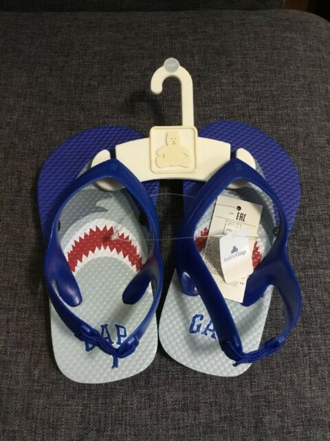 GAP Baby Boy / Toddler Shark Sandals Beach Water Shoes Blue Size 7T / 8T NWT