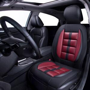 Universal-Car-Seat-Cushion-Cover-Leather-Burgundy-Waterproof-Soft-Memory-Foam
