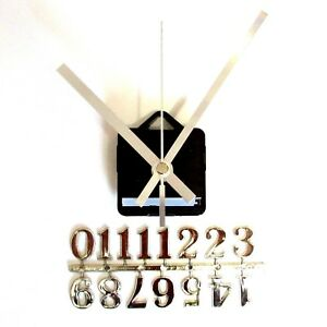 Silent-Quartz-Clock-Craft-Making-Kit-20mm-Silver-Numbers-119mm-Silver-Hands