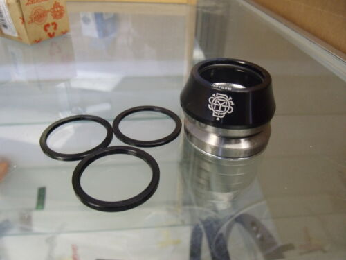 """ODYSSEY CONICAL INTEGRATED 1-1//8/"""" BLACK BMX BICYCLE HEADSET"""