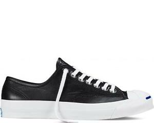 Image is loading CONVERSE-UNISEX-CONVERSE-JACK-PURCELL-SIGNATURE-BLACK -LEATHER-