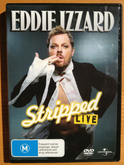 EDDIE IZZARD STRIPPED LIVE ~ AS NEW DVD ~ **FREE POST