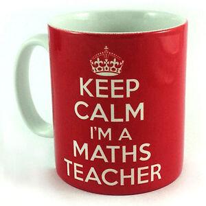 NEW-KEEP-CALM-I-039-M-A-MATHS-TEACHER-GIFT-MUG-CUP-CARRY-ON-STUDENT-SCHOOL-PRESENT