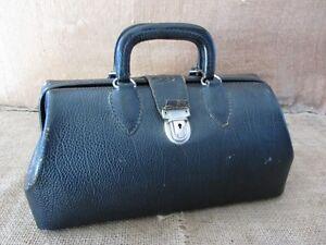 Image Is Loading Vintage Leather Doctor Bag Gt Antique Bags Old