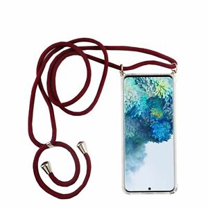 Samsung-Galaxy-S20-Mobile-Case-Band-Case-To-Sling-On-With-Cord-Bag-Red