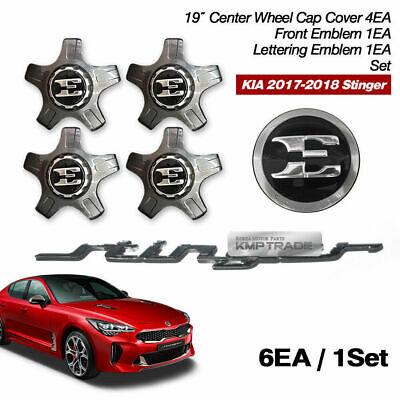 1Set 6Pcs Front Rear Wheel Hub 2010-2017 Hyundai Genesis Chrome Emblem Badge