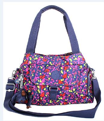 Kipling Felix Large Metallic Handbag Summer Field