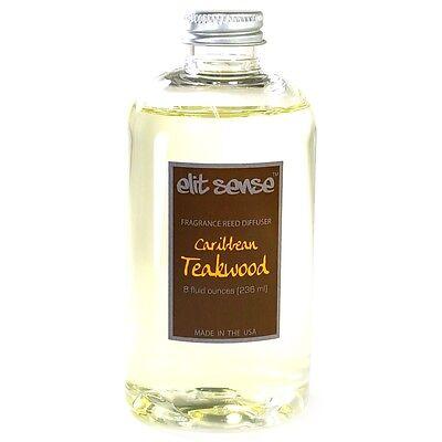 Caribbean Teakwood Reed Diffuser Refill Oil, 8 oz