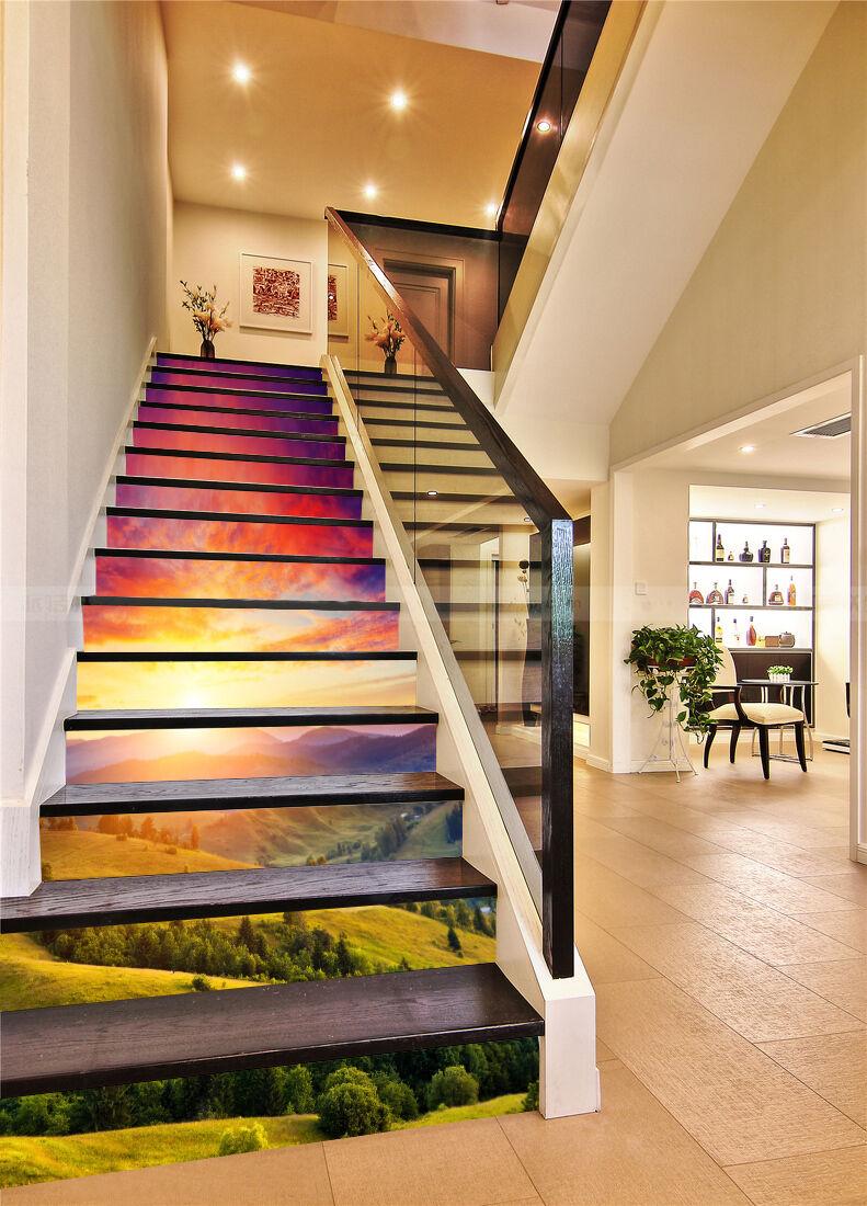 3D Hang Baum 4864 Stair Risers Dekoration Fototapete Vinyl Aufkleber Tapete DE