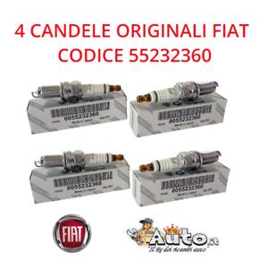 PUNTO 1.4 GPL 4 CANDELE ORIGINALI 55232360 NGK ZKR7AI-8 FIAT 500 PANDA 1.2 LPG