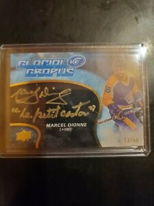 2018-19-Ud-Ice-GG-MD-MARCEL-DIONNE-GLACIAL-GRAPHS-INSCRIPTED-AUTO-13-50-LA-KINGS
