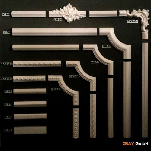 1 Set CK2 Styroporleiste Rahmen Wandleiste Friesleiste Dekorelemente 10 m K29