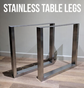 Image Is Loading 2 X STAINLESS STEEL Metal Table Legs Box