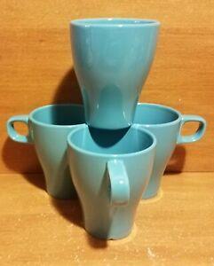 IKEA-FARGRIK-TURQUOISE-Mug-set-of-4-8-oz-4-034-21533-Excellent