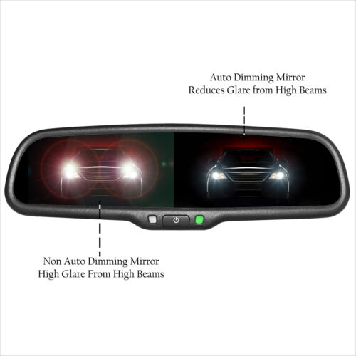 """Master Tailgaters OEM Rear View Mirror w// 4.3/"""" LCD Auto Dimming Temp Compass"""