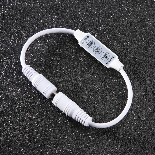 DC 12V Mini 3 Keys RGB LED Controller Dimmer for 3528 5050 5630 SMD Light Strip
