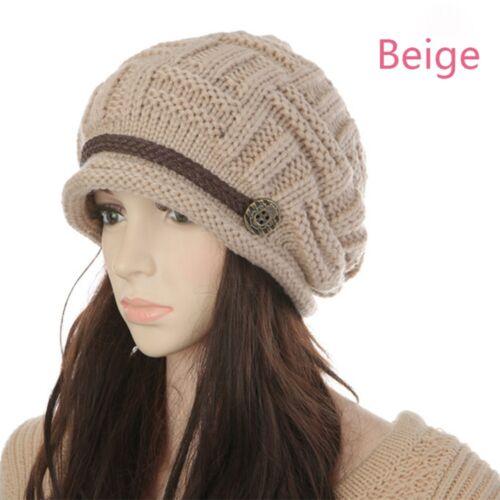 HOT casual lady fashion NEW Baggy Caldi Invernali a Maglia Berretto Cappello Beanie