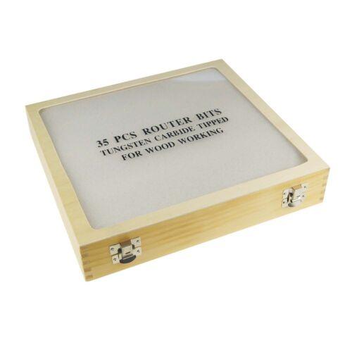 133045 35 STÜCK 0.6cm Schaft Holzbearbeitung Fräserwerkzeug Set Für Elektrisch