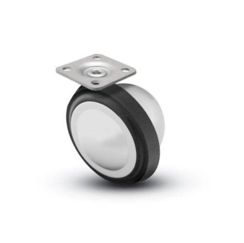 "Shepherd Planet Swivel Soft Tread Ball Caster with 2-1//4/"" Wheel in Bright Chrome"