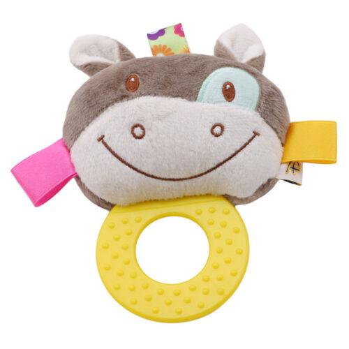 Newborn Baby Cotton  Rattles Infant Animal Hand Bell Kids Plush Toddler Toy N7