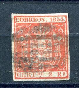 1854-ESPANA-EDIFIL-25-oder-usado-firmado-Cajal-cat