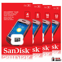 SanDisk 4GB 8GB 16GB 32GB Micro SD Flash Memory Card CLASS 4 microSD SD SDHC Lot