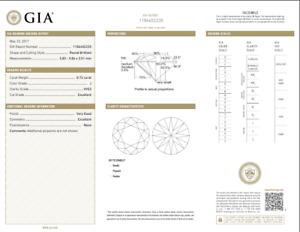 0-72-Quilate-Suelto-J-VVS2-Redondo-Brillante-Corte-Diamante-GIA-Certificado