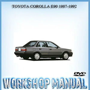 toyota corolla e90 1987 1992 workshop repair service manual in disc rh ebay com au toyota corolla ee90 repair manual pdf toyota corolla ee90 repair manual pdf