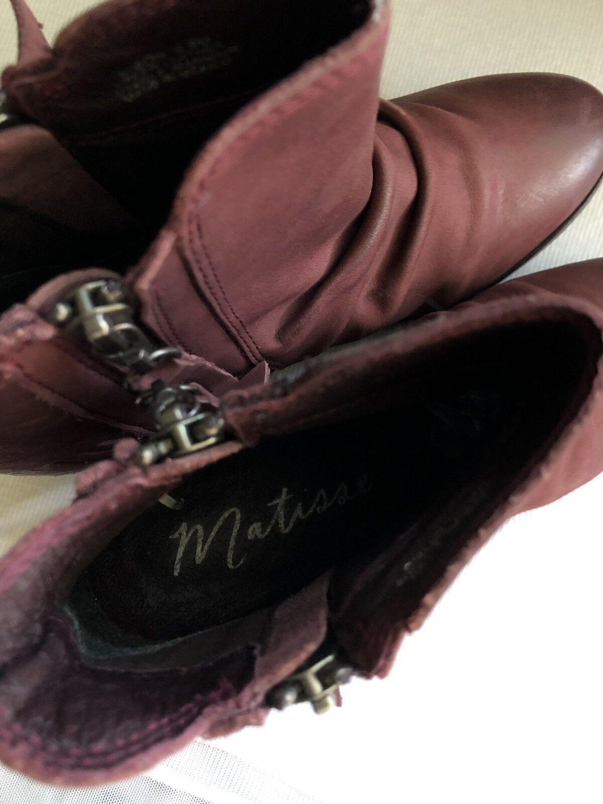 Matisse Bison en daim daim daim cuir prune bordeaux Pointure 5.5 180   65e763