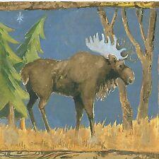 Wallpaper Border Chesapeake 3 Rolls Deer Moose Bear Stag Elk Rustic