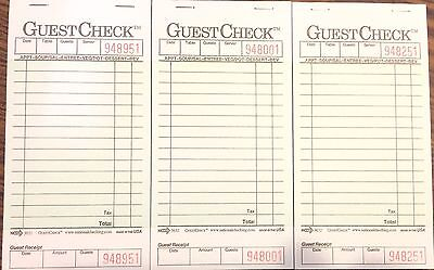 3 Pack G3632 Guest Check Book Waitress Pad 15 Line 50 Page Booklet Tear Off Stub