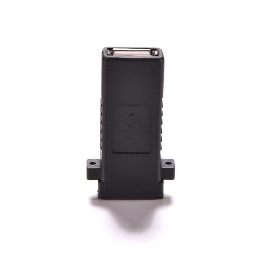 Hot USB 2.0 A Female to Female Socket Panel Mount Adapter Socket Plate Plug TO