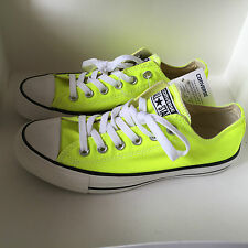 NEW! CHUCK TAYLORS CONVERSE OXFORDS ELECTRIC YELLOW NEON SNEAKERS US 7 / 37.5
