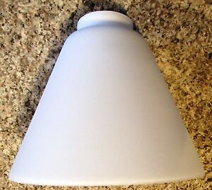 Opal Cone Shade Frosted 7 Quot X 2 1 4 Quot Fitter Lamp Globe