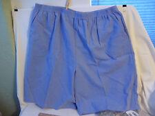 New blue 2 x womens walking short Blair calcutta cloth chambray 38 waist