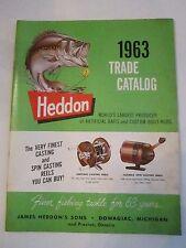 1963 HEDDON TRADE CATALOG - GOOD CONDITION -  TUB E