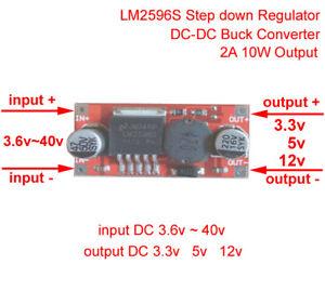 3A max 1.8V-12V Ausgangsspannung Step Down Spannungsregler DC 4.5V-24V Eingang