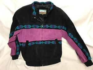 Vintage Adler Aztec 90s Coat 2xl 80s Southwestern Jacket Suede Womens Leather rrawIqSd