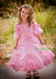 Girls-Fancy-Princess-Victorian-Vintage-Costumes-Party-Dress-Up-Size-3-9-VD002