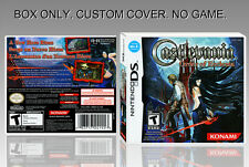"NINTENDO DS : CASTLEVANIA ORDER OF ECCLESIA. UNOFFICIAL COVER. BOX. ""NO GAME""."