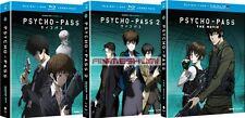 PSYCHO-PASS Seasons 1 & 2 + Movie Complete Series Anime DVD+Blu-ray Bundle R1
