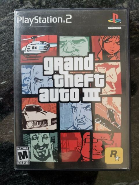 Grand Theft Auto III 3 PLAYSTATION PS2 BLACK LABEL FIRST RELEASE CIB TESTED WORK