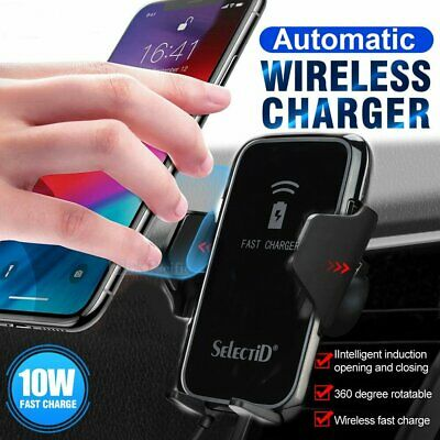 Automatic Wireless Charger Car Holder For Samsung Galaxy S20 Ultra S10 S9 Plus | eBay