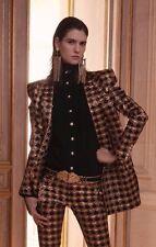 Balmain Brocade Red Black Gold Embellished Jacket Dress Blazer BNWT UK 8 FR 36